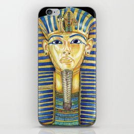 King Tut Colored Pencil Travel Art, Ancient Egypt  iPhone Skin