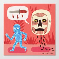 nightmare Canvas Prints featuring Nightmare by Jack Teagle