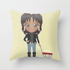 Oprah's Wagon of Fat Throw Pillow