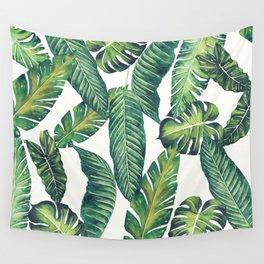 Jungle Leaves, Banana, Monstera II #society6 Wall Tapestry