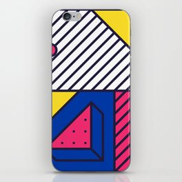 Festive Background in Neo Memphis Style Colorful Decorative pattern iPhone Skin