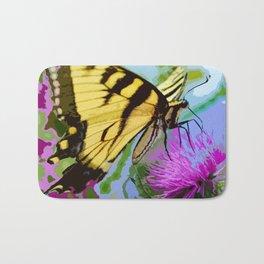 Yellow butterfly beauty 2 Bath Mat