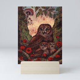 Tawny Owlets Mini Art Print