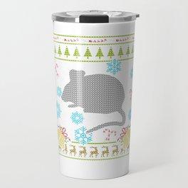 Pet Mouse Christmas Ugly Sweater Design Shirt Travel Mug