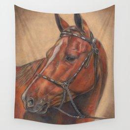 Quarter Horse Portrait Wall Tapestry