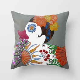 Pato Senorita - Lady Duck Throw Pillow