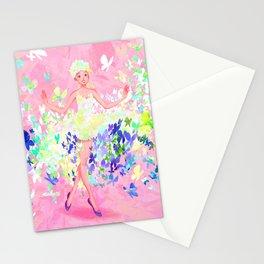Butterflies dress petal pink Stationery Cards