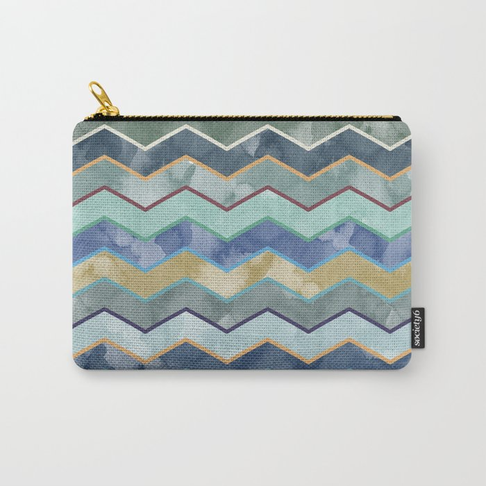 Watercolor Colorful Wave Carry-All Pouch