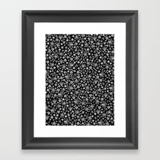 Flora Black Framed Art Print