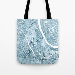 Map Nashville Tennessee Blueprint City Map Tote Bag