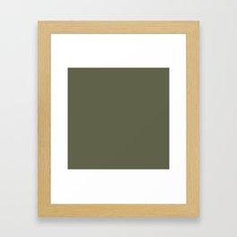 Finch - Solid Color Framed Art Print