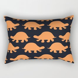 Turtles Orange Rectangular Pillow