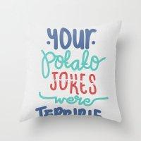 potato Throw Pillows featuring Potato by eugeniaclara