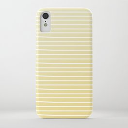 Simple Sunflower Yellow and Stripes iPhone Case