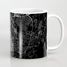 Austin Black Map Coffee Mug