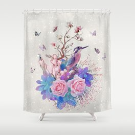 FLORAL ALCEDO ATTHIS Shower Curtain