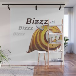 Fat Bee Wall Mural