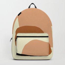 Modern lemon and brown geometric  Backpack