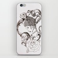 mirror iPhone & iPod Skins featuring Mirror by Bake