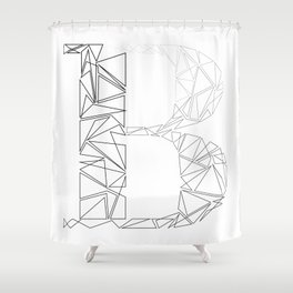 ''Geometry Collection'' - Minimal Letter B Print Shower Curtain