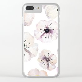 Moon flowers Clear iPhone Case