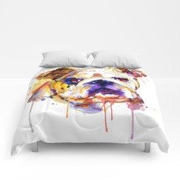 English Bulldog Head Comforters