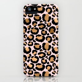 Animal print - pink copper iPhone Case