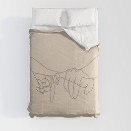Beige Pinky Comforters