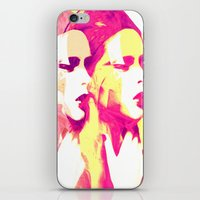 faces iPhone & iPod Skins featuring Faces by Paola Rassu