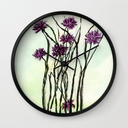 Invasive Knapweed Wall Clock