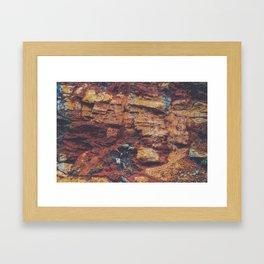 Rustic Layered Rock Texture Framed Art Print