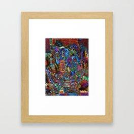 Psychedelic Buddha Framed Art Print
