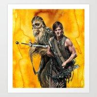 Walking Star Dead 2 Art Print