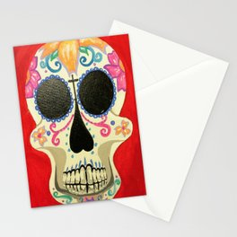 Red Skull Stationery Cards