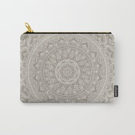 Mandala - Taupe Carry-All Pouch