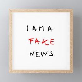 I am fake news Framed Mini Art Print