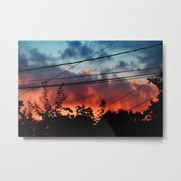 Burned Sky Metal Print