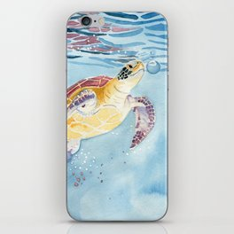 Take A Breath Sea Turtle iPhone Skin