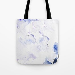 Modern abstract navy blue lavender watercolor Tote Bag