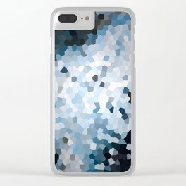 Darkness Meets Light Geometric Clear iPhone Case