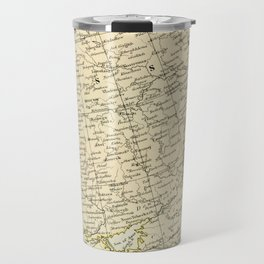 Old Map of the European Russia Travel Mug