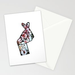 Love Finger Snap Crystals Stationery Cards
