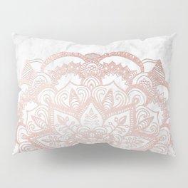 Rose Gold Mandala Star Pillow Sham