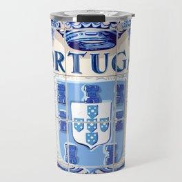 Portugal, art tile Travel Mug