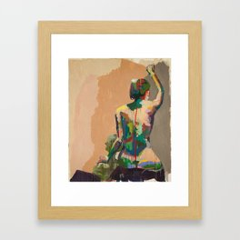 Girl's Back Framed Art Print