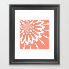 Peach Flower Framed Art Print