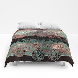 Peachy Mint Swirls Comforters