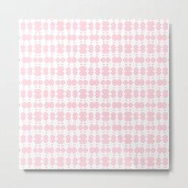White Sapphires - Pink Metal Print