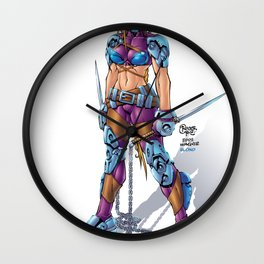 10th Muse by Roger Cruz Wall Clock