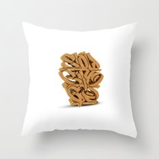 3D GRAFFITI - SLOW CITY GO Throw Pillow